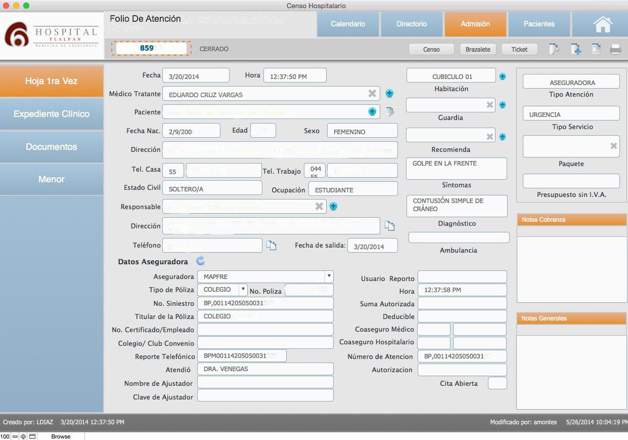 Solucion FileMaker en Hospital Tlalpan Ejemplo 2